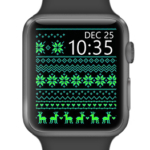 Christmas pattern green