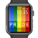 Gay pride rainbow